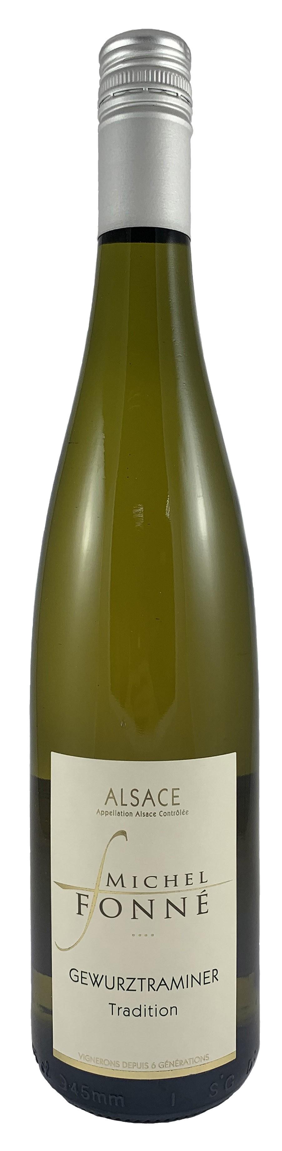 法國 阿爾薩斯AOC 米歇爾弗內酒莊 格烏茲塔明娜 白葡萄酒2018