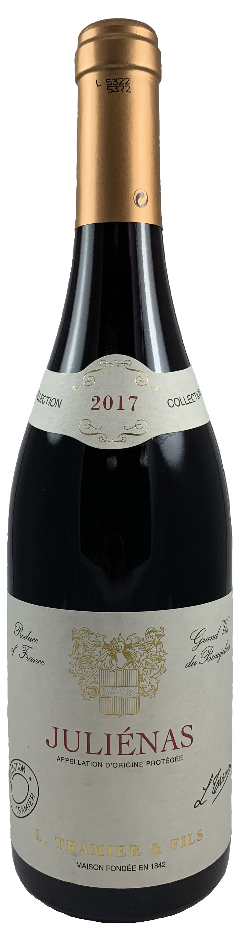 法國 鉈尼酒莊 朱麗安娜產區 特級紅葡萄酒2017