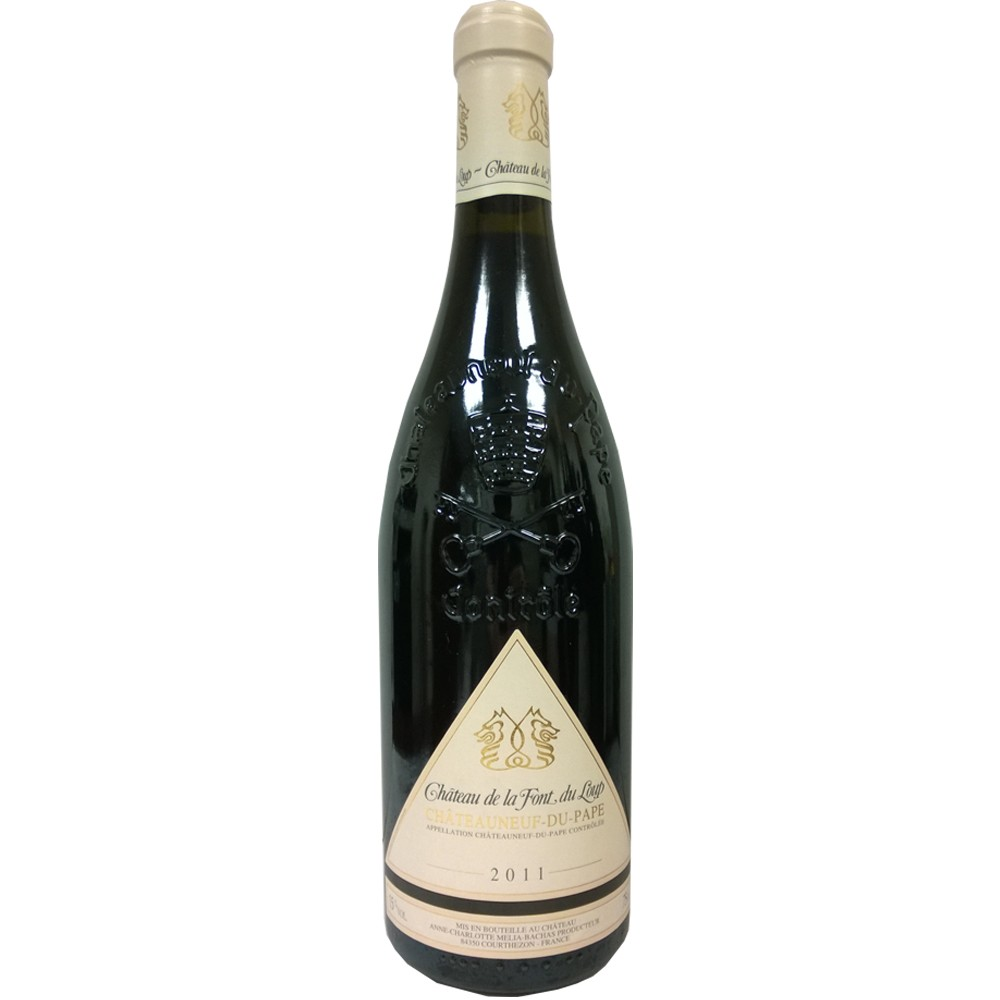 法國 隆河 教皇新堡AOP 狼泉古堡 紅葡萄酒2011