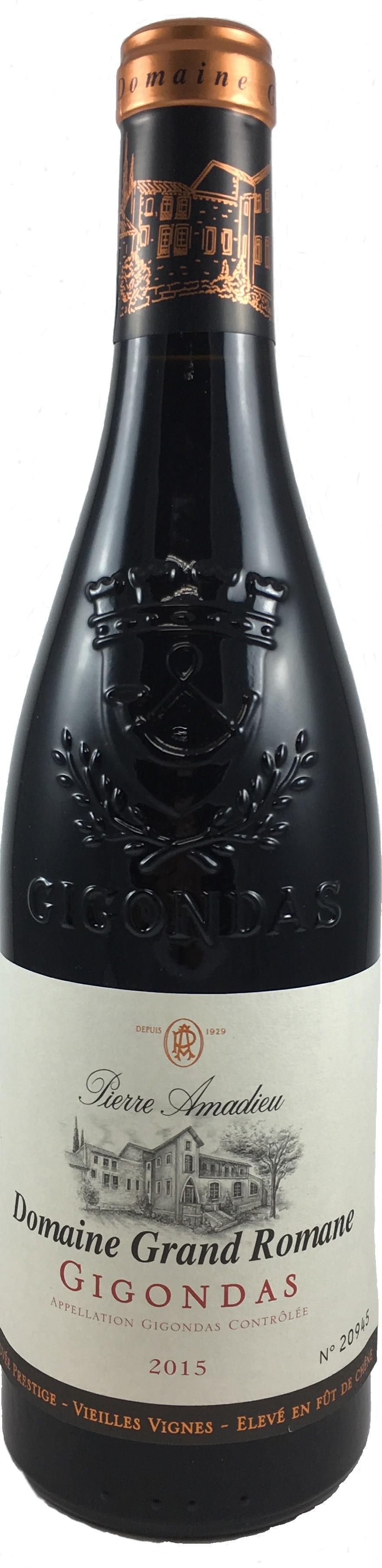 法國 隆河 吉恭達斯AOC 2015皮耶阿瑪德 浪漫堡老藤優質精釀特選紅葡萄酒
