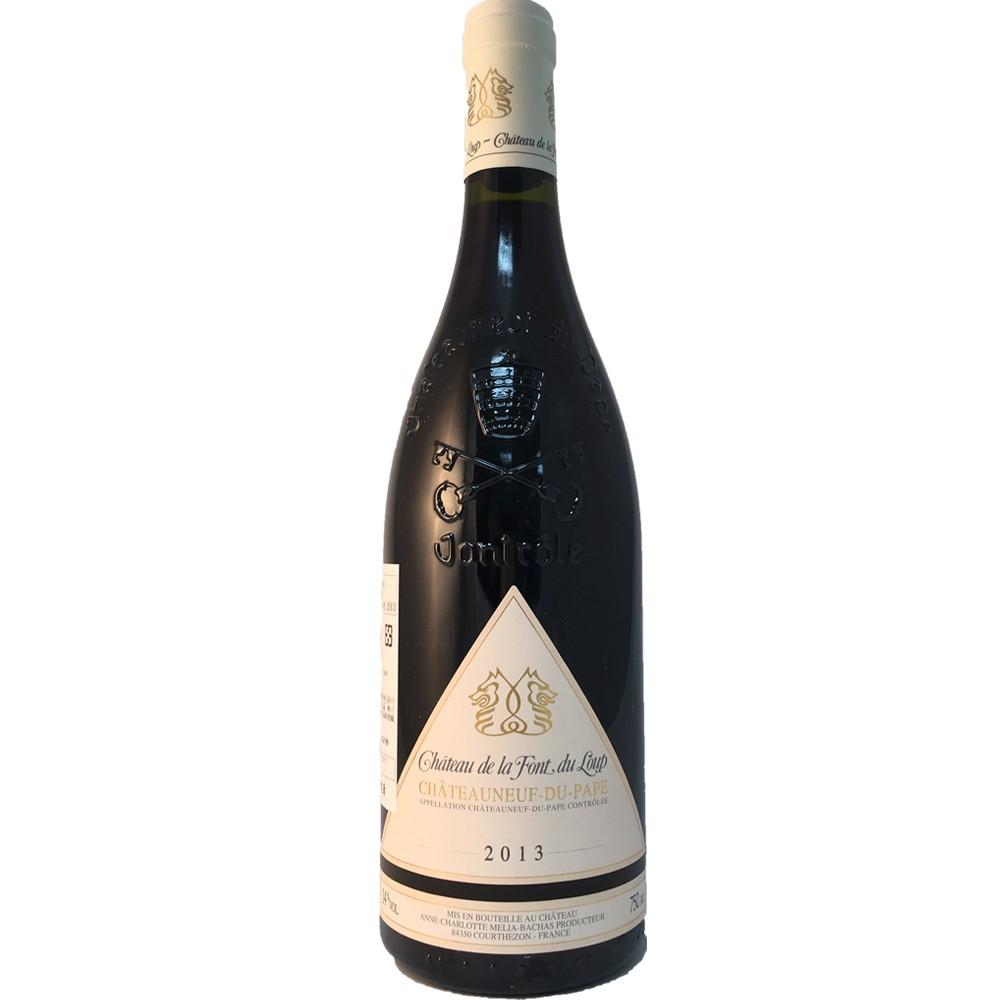 法國 隆河 教皇新堡AOP 狼泉古堡 紅葡萄酒2013
